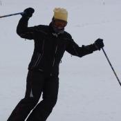 Mamka na lyžích