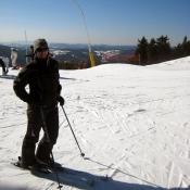 Maminka na lyžích