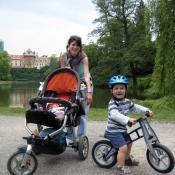 S tetou Katkou před Průhonickým zámkem