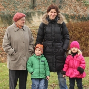já, mamka, babička a Charlottka