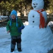 sněhuláka jsem potkal na procházce