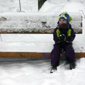 posezení na lavičce