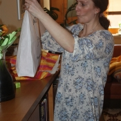 teta měla z dárečku také radost