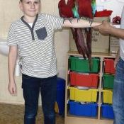 Jedna fotečka ze školní družiny - papoušek byl nádhernej